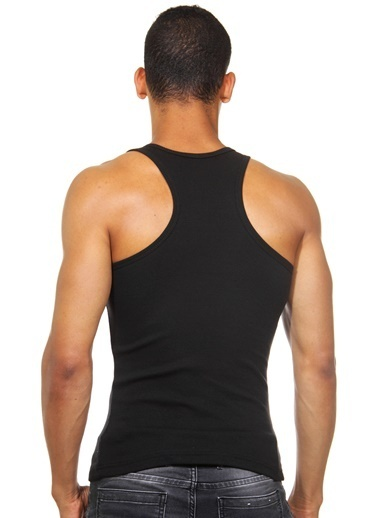 Dark Zone Slim Fit Erkek Atlet Siyah